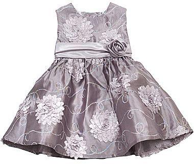 Rare Editions 3D Flower Dress - Girls 2t-4t