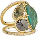 Brooke Gregson - Maya Mosaic 18-karat Gold Multi-stone Ring