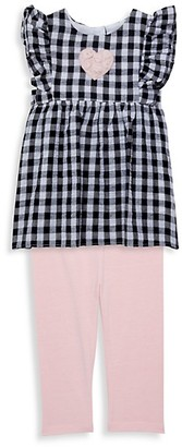 Pastourelle By Pippa & Julie Baby Girl's 2-Piece Gingham Top Capri Leggings Set
