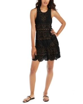 Miken Juniors' Crochet Racerback Dress Cover-Up, Created for Macy's Women's Swimsuit