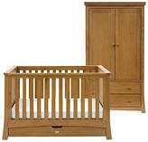 Silver Cross Canterbury Cot Bed and Wardrobe Set, Oak