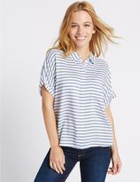 Marks and Spencer PETITE Striped Short Sleeve Shirt