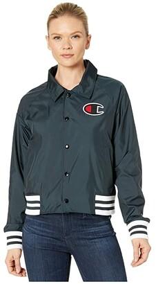Champion Coaches Jacket (Black) Women's Clothing
