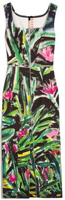 Marni Sleeveless Square Neck Dress in Fern Green