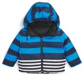 Burberry 'Rio Stripe' Hooded Puffer Jacket (Baby Boys)