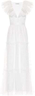 Philosophy di Lorenzo Serafini Daisy tulle maxi dress