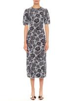 Rebecca Taylor Short-Sleeve Metallic Jacquard Cocktail Dress