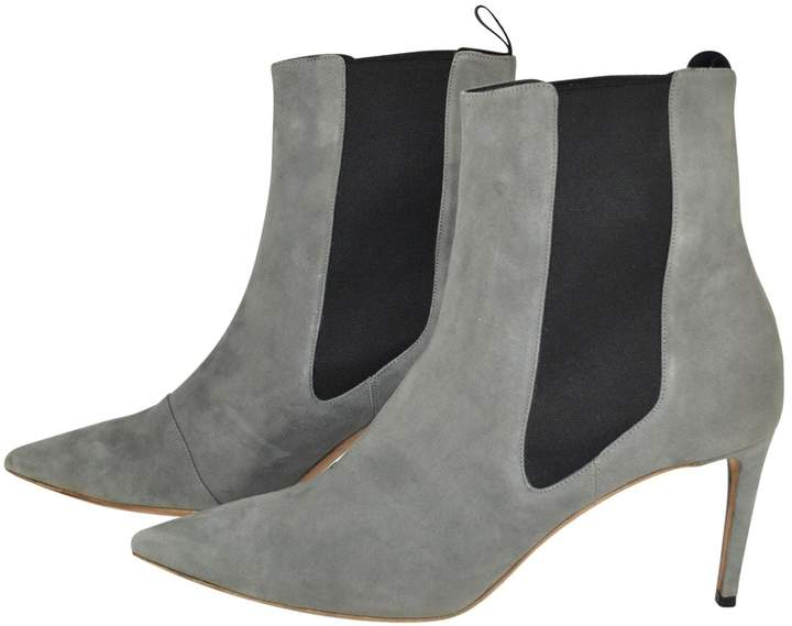 d6e4fbeab96a2 Womens Grey Ankle Boots - ShopStyle UK