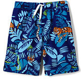 Classic Boys Printed Swim Trunks-Sharks