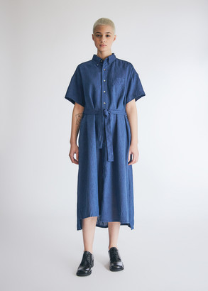Engineered Garments Women's Bd Shirt Dress in Navy Cl Solid, Size 0