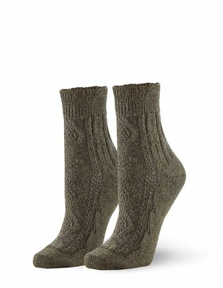 Hue Women's Lightweight Wool Frilly Cable Sock