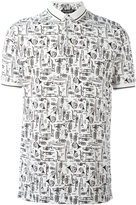 Dolce & Gabbana musical instrument print polo shirt - men - Cotton - 46