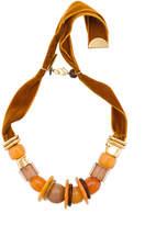 Lizzie Fortunato Amber Savanna beaded necklace