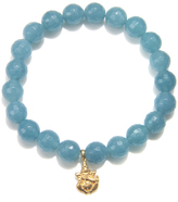 Satya Jewelry Angelite Bead Bracelet with Ganesha Charm