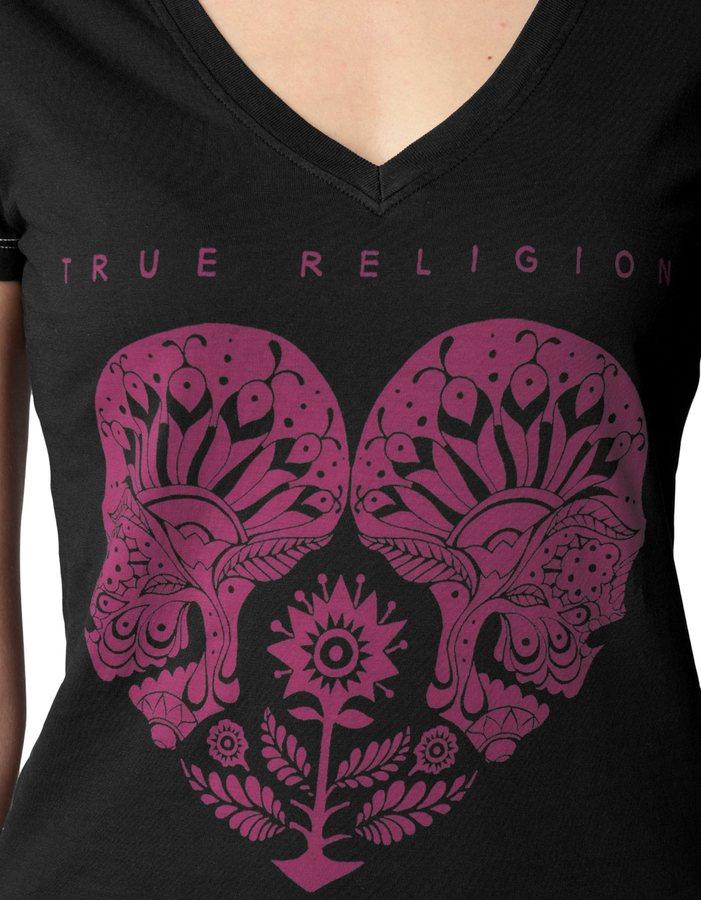 True Religion Heartser Vneck Tee