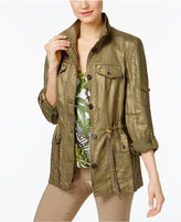 INC International Concepts Linen Utility Jacket, Created for Macy's