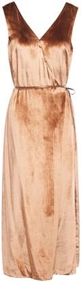 Vince Wrap-effect Velvet Midi Dress