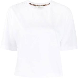 Fendi Cropped 3d Logo T-shirt