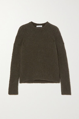 Gabriela Hearst Philippe Cashmere And Silk-blend Boucle Sweater - Army green