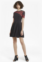 French Connection Phoebe Crepe Lace Skater Dress