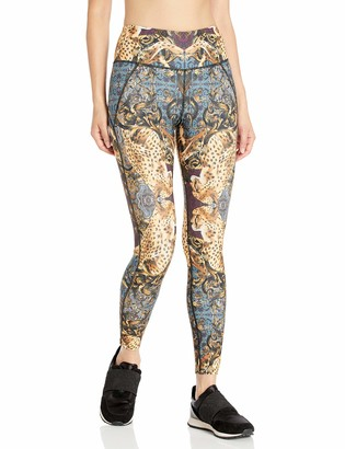 Betsey Johnson Women's Mirrored Print High Rise Ankle Legging
