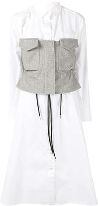 Sacai panelled shirt dress