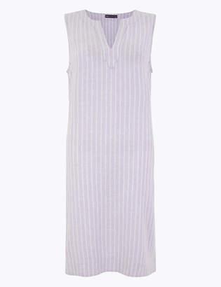 Marks and Spencer Linen Blend Striped Shift Dress
