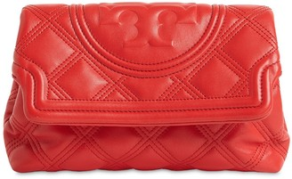 Tory Burch Fleming Quilted Leather Clutch