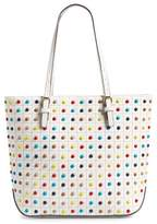 Sondra Roberts Studded Faux Leather Tote