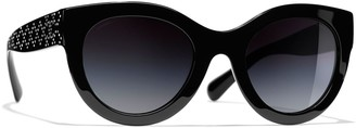 Chanel Oval Sunglasses CH5420B Black/Black Gradient