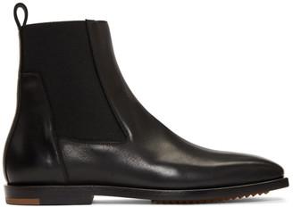 Rick Owens Black Flat Square Toe Boots