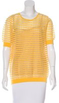 Escada Mesh Short Sleeve Top