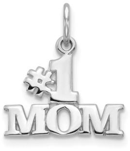 Macy's 1 Mom Charm in 14k White Gold