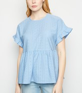 Thumbnail for your product : New Look Broderie Frill Peplum Top