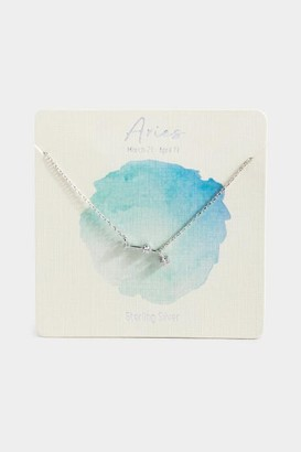 francesca's Sterling Silver Aries Constellation Necklace - Silver