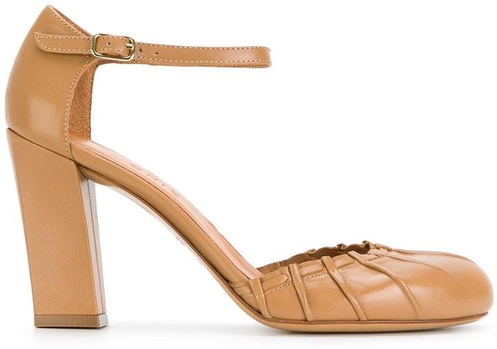 Chie Mihara Bri-Tash Damen Schuhe Pumps Absatz Riemchen Weiß Leder Made in Spain