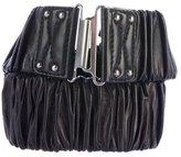 Miu Miu Ruched Leather Belt