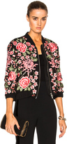 Needle & Thread Embroidered Rose Bomber