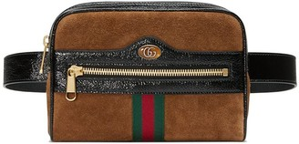 Gucci brown Ophidia small suede belt bag