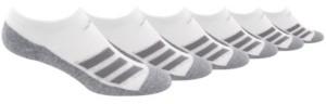 adidas Big Boys Cushioned Angle Stripe No Show Sock Pack of 6