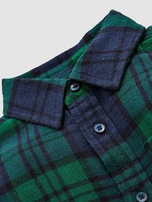 Very Boys Check Shirt - Green Blue