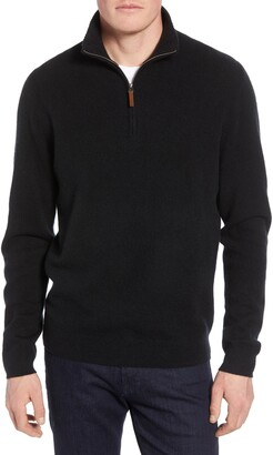 Nordstrom Regular Fit Cashmere Quarter Zip Pullover