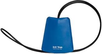 Jeff Wan Leather Keyring Necklace Blue