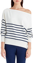 Jason Wu Striped Knit Off-Shoulder Sweater