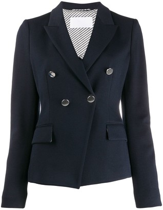 HUGO BOSS Double-Breasted Fitted Blazer