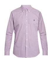Polo Ralph Lauren Slim-fit checked cotton-poplin shirt