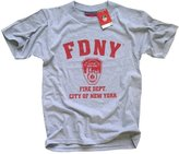 Rothco FDNY T-SHIRT Crewneck New York Fire Department Athletic Tee, Gray