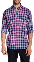 Tailorbyrd Fuschia Long Sleeve Plaid Woven Shirt
