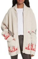 Joseph Women's Chunky Intarsia Wool Cardigan
