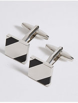 M&S Collection Striped Cufflinks